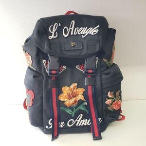 Gucci L'Aveugle Par Amour Techno Backpack - Black
